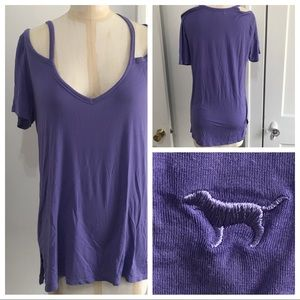 ⭐️ $5! VS PINK Super Soft Cold Shoulder Tee!